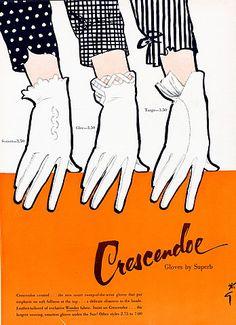 Illustration Vintage - Crescendoe - Gruau - 1952