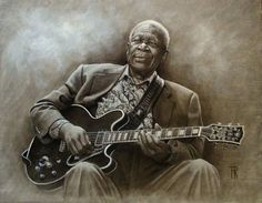 Wonderful painting of the King of the Blues!