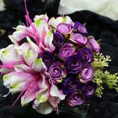 Simulering Kunstig Silke Blomst Lite Steg Sayuri Smaids Blomsterpike Brudebuketter Holder Blomster Til Bryllup