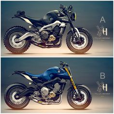 Racing Cafè: Cafè Racer Concepts - Yamaha MT-09 by Holographic Hammer