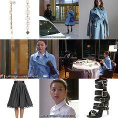 """Celine Spring 2014 RTW cotton poplin coat, Dsquared skirt, Giuseppe Zanotti boots, H. Stern """"Moonlight"""" earrings"""