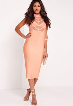 we're totally obsessing over this chic pink premium midi dress here at missguided. in a seriously smokin' figure flattering bandage fabric to the skirt and contrasting lace top detailing this dress is luxe! featuring a high neck finish ...
