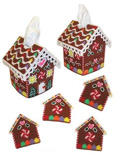 Gingerbread House Decor Plastic Canvas Pattern