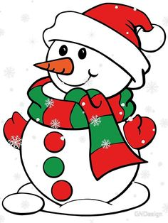 """'"""" Snowman """"' by GNDesign - Winter / Christmas motif """"Snowman"""" Christmas Rock, Christmas Colors, Christmas Snowman, Winter Christmas, Christmas Decorations, Christmas Ornaments, Christmas 2019, Christmas Ideas, Printable Christmas Coloring Pages"""
