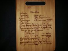 Custom cutting board for Sarah from 3DCarving on Etsy