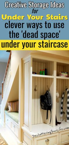 Unclutter Your Home With These Under Stairs Storage Ideas - Use the dead space u. Unclutter Your Home With These Under Stairs Storage Ideas – Use the dead space under your stairs