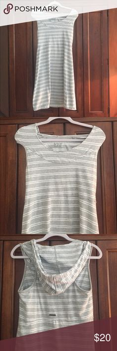 Marc New York dress Grey and white stripe hooded sleeveless dress.  Soft cotton.  Length is approximately 35 inches long. Dresses