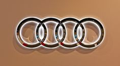 Audi Rings at Seattle Auto Show
