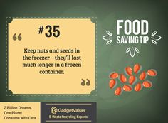 Food Saving Tip 35 | 150+ Sustainability Resources | #WED2015 #7BillionDreams #Sustainability