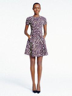 autumn leopard flared dress - kate spade new york