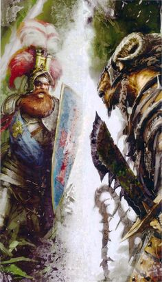 Khazrak facing off against his hated rival, Elector Count Boris Todbringer