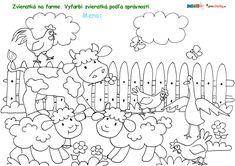 Zvieratká na farme - preučiteľky. Diagram, Math, Words, Math Resources, Horse, Mathematics