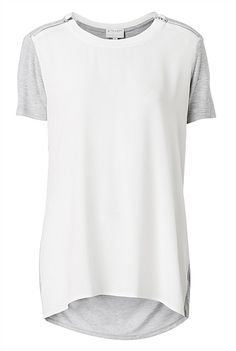 Woven Zipper Front Tee Confessions Of A Shopaholic, My Wardrobe, Zipper, Tees, Lust, Mens Tops, T Shirt, Shopping, Style