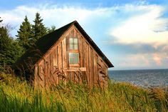 Against the wind but still standing  	  	  	  		This Forgoten cabin is on lake superior off stony Point Road