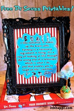 Quote by Dr Seuss about nonsense. Love this! free printable
