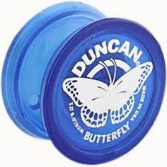 Genuine Duncan Butterfly Yo-Yo Classic Toy - Blue The Duncan Butterfly Yo-Yo is the original String Trick Yo-Yo. The plastic Butterfly has a fixed metal axle and cannot be screwed apart. The wide shap