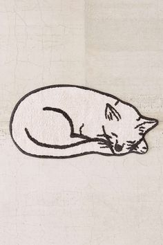 Plum & Bow Sleeping Cat Bath Mat