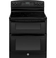 The clean, sleek appearance of a GE double oven range is a welcome addition to any kitchen design.