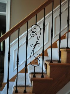 Staircase White Wainscoting Design, Pictures, Remodel, Decor and Ideas - page 3