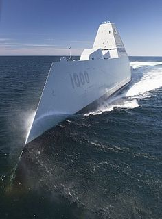 160421-N-YE579-003 ATLANTIC OCEAN (April 21, 2016) The future guided-missile destroyer USS Zumwalt (DDG 1000) transits the Atlantic Ocean to conduct acceptance trials with the Navy's Board of Inspection and Survey (INSURV). Acceptance Trials are the last significant shipbuilding milestone before delivery of the ship to the U.S. Navy, which is planned for next month. While underway, many of the ship's key systems and technologies including navigation, propulsion readiness, auxiliary systems…