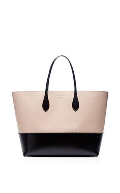 Two-Tone Leather Tote by Rochas Now Available on Moda Operandi