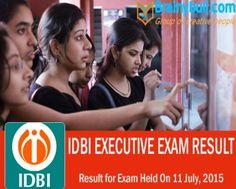 IDBI Result Declared for Executive Exam 2015