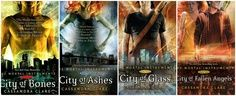 Mortal Instruments Series By: Cassandra Clare (and I totally read them WAAAYYYY before the movie. Which was eh, by the way)