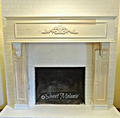 ~Sweet Melanie~: My Design on Updating an old Fireplace