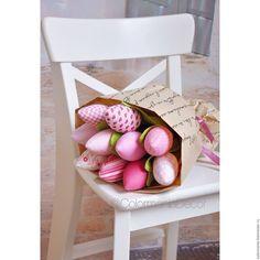 """Купить Тюльпаны """"розовый букет"""" - бледно-розовый, тюльпаны, тюльпаны из ткани, цветы"""