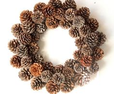 Pine Cone Wreath, Use Indoor or Outside, Fresh NC Natural Pine cones, Great Fall, Harvest or Year Ro Diy Wreath, Burlap Wreath, Wreath Ideas, Xmas Wreaths, Christmas Decorations, Navidad Natural, Pine Cone Crafts, How To Make Wreaths, Christmas Inspiration