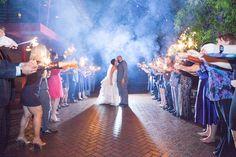 Bride and Groom Wedding Sparkler Exit in Bamboo Garden at Downtown St. Pete Wedding Venue NOVA 535
