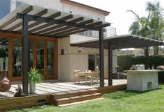 Top 60 Patio Roof Ideas - Covered Shelter Designs From gazebo creations to reimagined awnings and beyond, discover the top 60 best patio roof ideas. Explore covered shelter designs for your backyard. Metal Pergola, Pergola With Roof, Outdoor Pergola, Patio Roof, Back Patio, Outdoor Rooms, Backyard Patio, Outdoor Living, Covered Pergola Patio