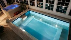 Hot tub for relaxing, endless pool for workouts!