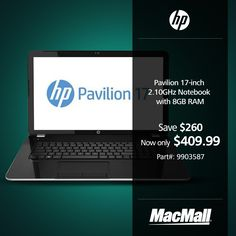 Save $260 on an #HP Pavillion 2.1GHz notebook with 8GB RAM at MacMall. #DailyDeal