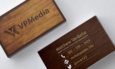Custom business card for rustic, simple media business