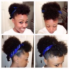 Natural hair - cute curls. Just tried this style today