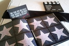 Walk of fame guest and/or advice book for a Hollywood wedding! I love this idea especially if you can distribute engagement photos in between and those photos have a Hollywood glam feel too! A great keepsake Old Hollywood Prom, Old Hollywood Theme, Vintage Hollywood, Hollywood Glamour Party, Hollywood Sweet 16, Hollywood Star, Gala Dinner, Deco Cinema, Hollywood Birthday Parties