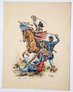 Guerre de Secession Sudiste Eugene Leliepvre. Richmond 1862.