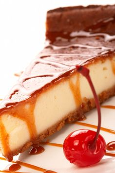 Cheesecake με καραμέλα Food Network Recipes, Food Processor Recipes, The Kitchen Food Network, Easy Cheesecake Recipes, Cheesecakes, Food Art, Sweet Recipes, Food And Drink, Sweets