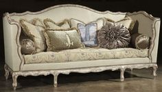 Country French Style Sofa, Upholstered Furniture