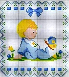 Baby and butterfly pattern