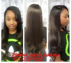 Sew in with side part $125