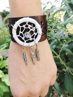 Dream Catcher Leather Cuff Bracelet