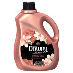 Ultra Downy Infusions Amber Blossom Liquid Fabric Softener and Conditioner 103 FL Oz, 120 Loads Cleaning Hacks, Cleaning Supplies, Laundry Supplies, Amber, Conditioner, Washing Machines, Downey Fabric Softener, Vibrant, Slime Containers