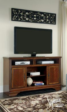 Ashley Signature Design Chimerin Large Tv Stand With Fireplace