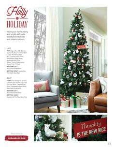 Winter 2015 Catalogue by Urban Barn Urban Barn, Woodland Creatures, Merry And Bright, Tree Skirts, Catalog, Christmas Tree, Colours, Make It Yourself, Wall Art
