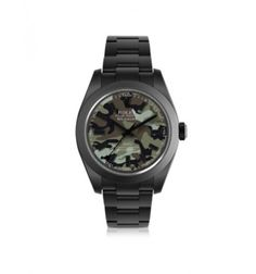 MAD Customized Watches Customized Rolex Milgauss Green Camo Dial Men's Watch