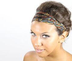 fabric headband for women  colorful headband   by jahannamartinez, $25.00