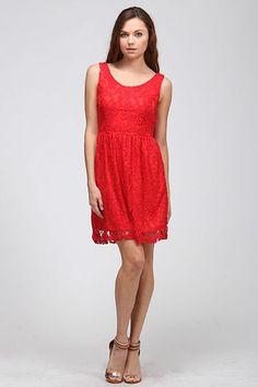Crimson Lace Dress