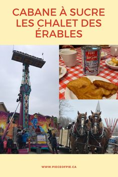 Looking for a good cabane à sucer (sugar shack) to take the kids and family? Check out Les Chalet des Érables and you will find food, music and an entire amusement park of fun! #cabaneasucre #sugarshack #maplesyrup #maple #montreal #mtlblog #tourismemontreal #mtlmoments #Laval #Monlaval #experiencelaval